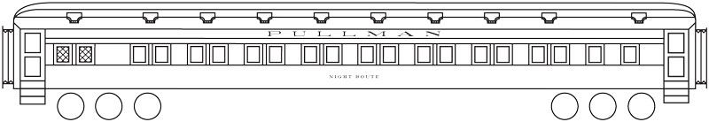 9605-43-DT-CH Gold O Scale Square Style Passenger Car